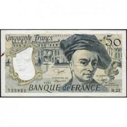 F 67-07 - 1981 - 50 francs - Quentin de la Tour - Série H.22 - Etat : TB+