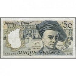 F 67-07 - 1981 - 50 francs - Quentin de la Tour - Série Q.22 - Etat : TB-