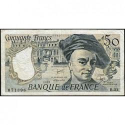 F 67-07 - 1981 - 50 francs - Quentin de la Tour - Série R.22 - Etat : TB-