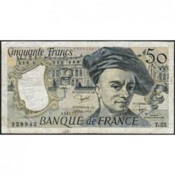 F 67-07 - 1981 - 50 francs - Quentin de la Tour - Série T.22 - Etat : TB-