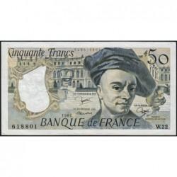 F 67-07 - 1981 - 50 francs - Quentin de la Tour - Série W.22 - Remplacement - Etat : TTB
