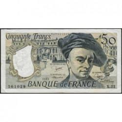 F 67-07 - 1981 - 50 francs - Quentin de la Tour - Série X.22 - Etat : TTB-