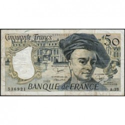 F 67-07 - 1981 - 50 francs - Quentin de la Tour - Série A.23 - Etat : TB-