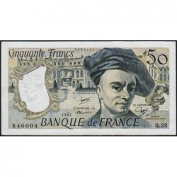 F 67-07 - 1981 - 50 francs - Quentin de la Tour - Série Q.23 - Etat : TTB