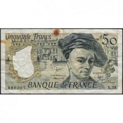 F 67-07 - 1981 - 50 francs - Quentin de la Tour - Série X.23 - Etat : B+