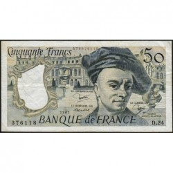 F 67-07 - 1981 - 50 francs - Quentin de la Tour - Série D.24 - Etat : TB+