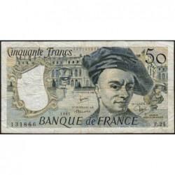 F 67-07 - 1981 - 50 francs - Quentin de la Tour - Série F.24 - Etat : TB