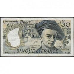 F 67-07 - 1981 - 50 francs - Quentin de la Tour - Série N.24 - Etat : TB