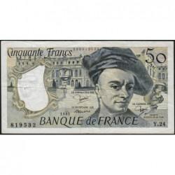 F 67-07 - 1981 - 50 francs - Quentin de la Tour - Série Y.24 - Etat : TB+