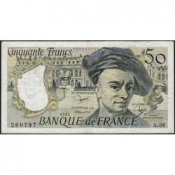 F 67-08 - 1982 - 50 francs - Quentin de la Tour - Série A.26 - Etat : TB