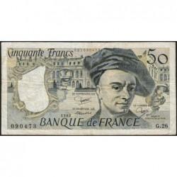 F 67-08 - 1982 - 50 francs - Quentin de la Tour - Série G.26 - Etat : TB