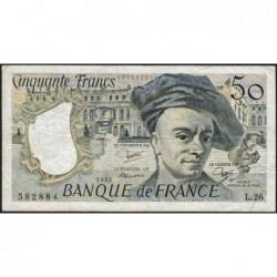 F 67-08 - 1982 - 50 francs - Quentin de la Tour - Série L.26 - Etat : TB