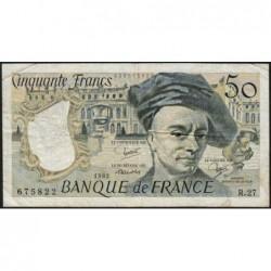 F 67-08 - 1982 - 50 francs - Quentin de la Tour - Série R.27 - Etat : TB