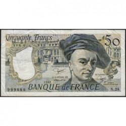 F 67-08 - 1982 - 50 francs - Quentin de la Tour - Série N.28 - Etat : TB
