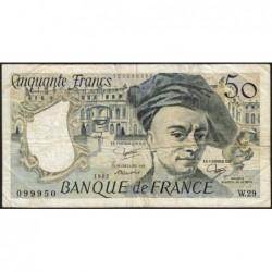 F 67-08 - 1982 - 50 francs - Quentin de la Tour - Série W.29 - Remplacement - Etat : TB