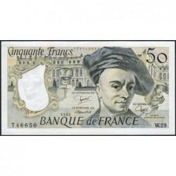 F 67-08 - 1982 - 50 francs - Quentin de la Tour - Série W.29 - Remplacement - Etat : pr.NEUF