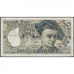 F 67-09 - 1983 - 50 francs - Quentin de la Tour - Série Y.31 - Etat : TB-