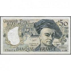 F 67-09 - 1983 - 50 francs - Quentin de la Tour - Série C.33 - Etat : TTB-
