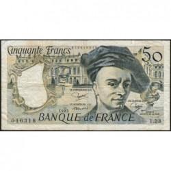 F 67-09 - 1983 - 50 francs - Quentin de la Tour - Série T.33 - Etat : TB-