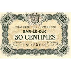 Bar-le-Duc - Pirot 19-7 - 50 centimes - Sans date (1917) - Etat : NEUF
