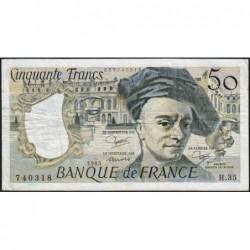 F 67-09 - 1983 - 50 francs - Quentin de la Tour - Série H.35 - Etat : TB+