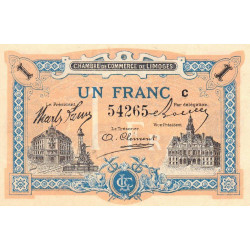 Limoges - Pirot 73-22 - 1 franc - Série C - Sans date - Etat : NEUF