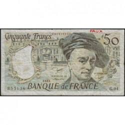 F 67-09 - 1983 - Faux 50 francs - Quentin de la Tour - Série G.94 - Etat : TB-