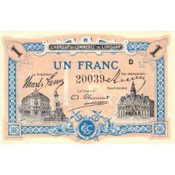 Limoges - Pirot 73-22 variété - Série D - 1 franc - Etat : NEUF
