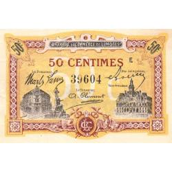 Limoges - Pirot 73-23 - 50 centimes - Série E - Sans date - Etat : SUP+