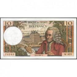 F 62-26 - 06/04/1967 - 10 francs - Voltaire - Série W.323 - Remplacement - Etat : TTB