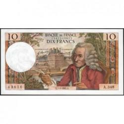 F 62-28 - 07/09/1967 - 10 francs - Voltaire - Série A.348 - Etat : SUP+