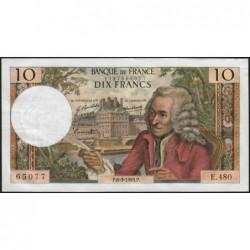 F 62-37 - 06/03/1969 - 10 francs - Voltaire - Série E.480 - Etat : TTB+