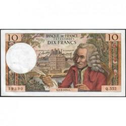 F 62-42 - 05/02/1970 - 10 francs - Voltaire - Série Q.552 - Etat : SUP