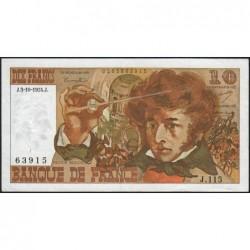 F 63-07b - 03/10/1974 - 10 francs - Berlioz - Série J.115 - Etat : TTB+