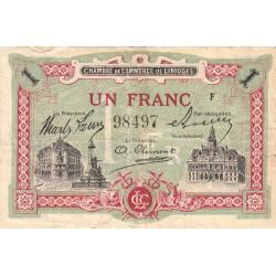 Limoges - Pirot 73-24 - 1 franc - Série F - Sans date - Etat : TB+