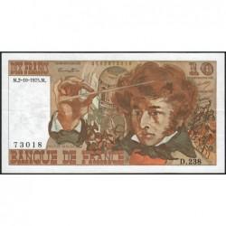 F 63-13 - 02/10/1975 - 10 francs - Berlioz - Série D.238 - Etat : TTB+