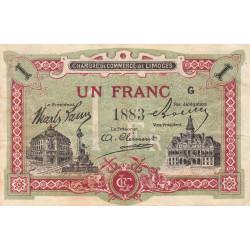 Limoges - Pirot 73-24 - 1 franc - Série G - Sans date - Etat : TB+