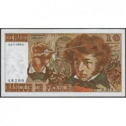 F 63-16 - 02/01/1976 - 10 francs - Berlioz - Série U.271 - Etat : TTB+