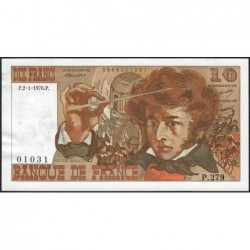 F 63-16 - 02/01/1976 - 10 francs - Berlioz - Série P.279 - Etat : SUP