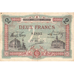 Limoges - Pirot 73-25 - 2 francs - Etat : TB