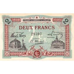 Limoges - Pirot 73-25 - 2 francs - Sans série - Sans date - Etat : TTB+