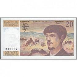F 66-06 - 1985 - 20 francs - Debussy - Série T.015 - Etat : pr.NEUF