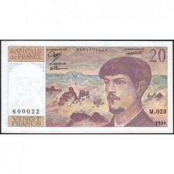 F 66-09 - 1988 - 20 francs - Debussy - Série M.023 - Etat : SPL
