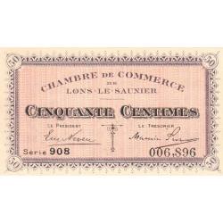 Lons-le-Saunier - Pirot 74-1 - Série 908 - 50 centimes - Etat : SPL+
