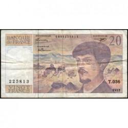 F 66bis-03 - 1992 - 20 francs - Debussy - Série T.036 - Etat : TB-