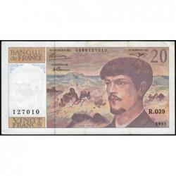 F 66bis-04 - 1993 - 20 francs - Debussy - Série R.039 - Etat : TTB