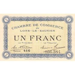 Lons-le-Saunier - Pirot 74-5 - Série 416 - 1 franc - Etat : SPL+