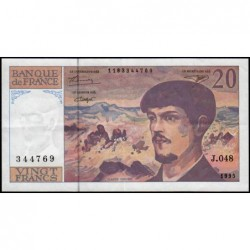 F 66ter-01 - 1995 - 20 francs - Debussy - Série J.048 - Etat : TTB+