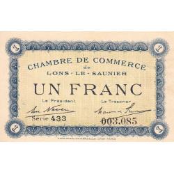 Lons-le-Saunier - Pirot 74-5 - 1 franc - Série 433 - Sans date - Etat : SPL+