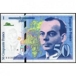 F 72-02 - 1993 - 50 francs - Saint-Exupéry - Série N - Etat : SUP+